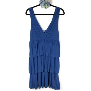 J. Crew Blue Ruffle Tiered Dress XL